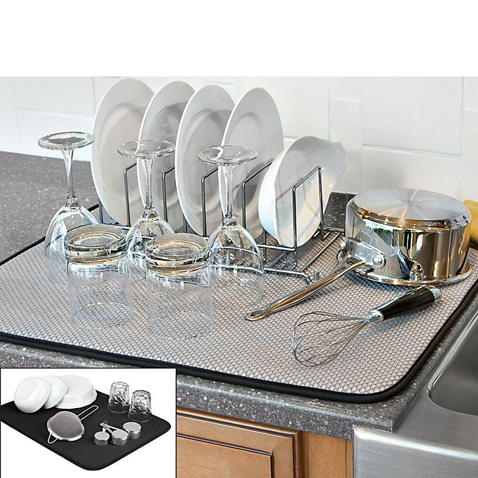 Alternate image 1 for The Original™ XL Dual Dish Drying Mat in Black