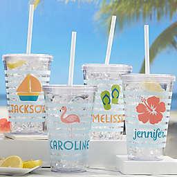 Beach Fun Personalized Acrylic Insulated Tumbler