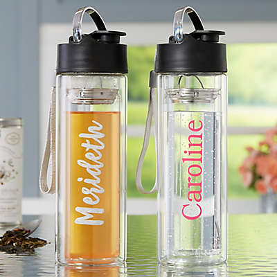 Personalized Glass Water Bottle With Infuser