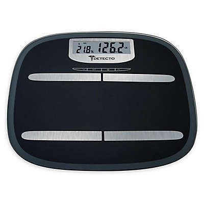 Detecto™ Wide-Body LCD Digital Glass Body Fat Scale in Black