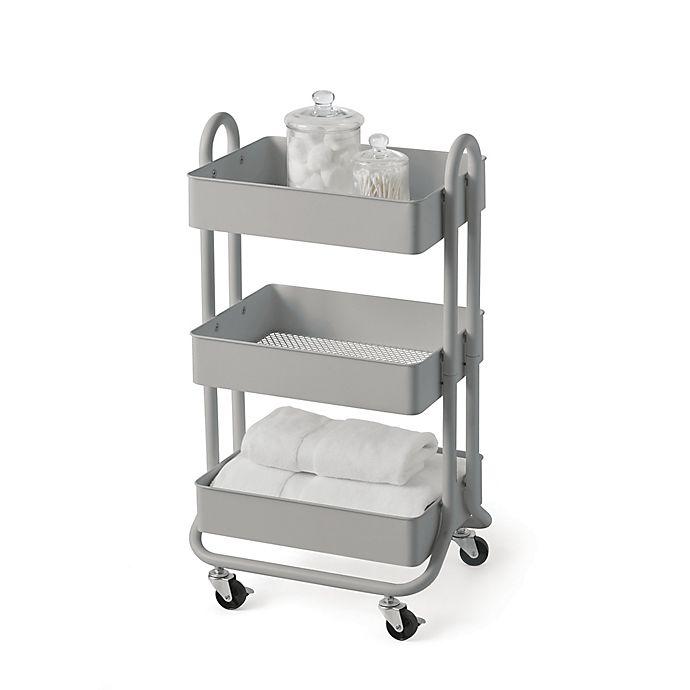 Alternate image 1 for SALT™ 3-Tier Bath Storage Cart in Grey