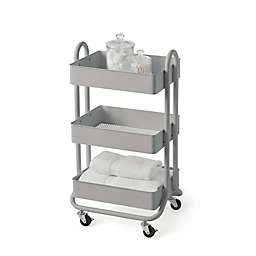 SALT™ 3-Tier Bath Storage Cart in Grey