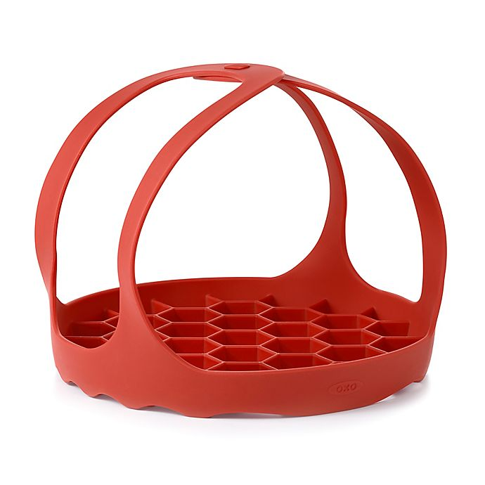 Alternate image 1 for OXO Good Grips® Silicone Pressure Cooker Baking Sling in Red