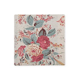 Bee & Willow™ Home Dolomite Floral Square Coasters in Red Multi (Set of 4)