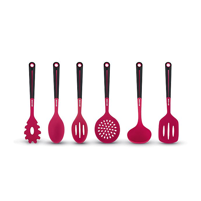 Alternate image 1 for Art and Cook™ 6-Piece Silicone Kitchen Utensil and Tool Set in Red