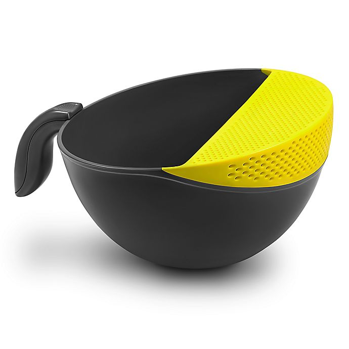 Alternate image 1 for Art and Cook™ Soak and Strain 3.5 qt. Washing Bowl in Yellow