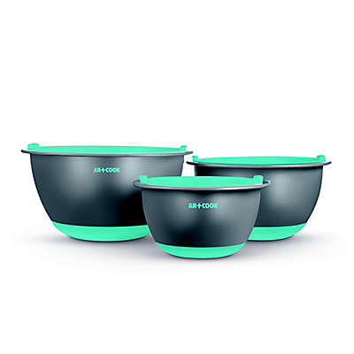 Art and Cook™ 6-Piece Non-Skid Mixing Bowl with Lids Set