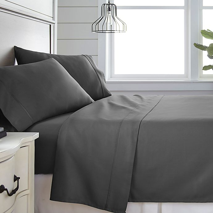 Alternate image 1 for Home Collection 300-Thread-Count Deep-Pocket California King Sheet Set in Grey