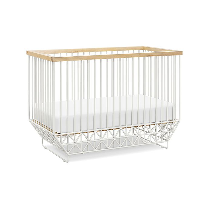 Alternate image 1 for Ubabub Mod Crib in Warm White/Natural