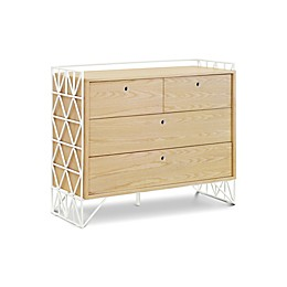 Ubabub Mod 4-Drawer Dresser in Warm White/Natural