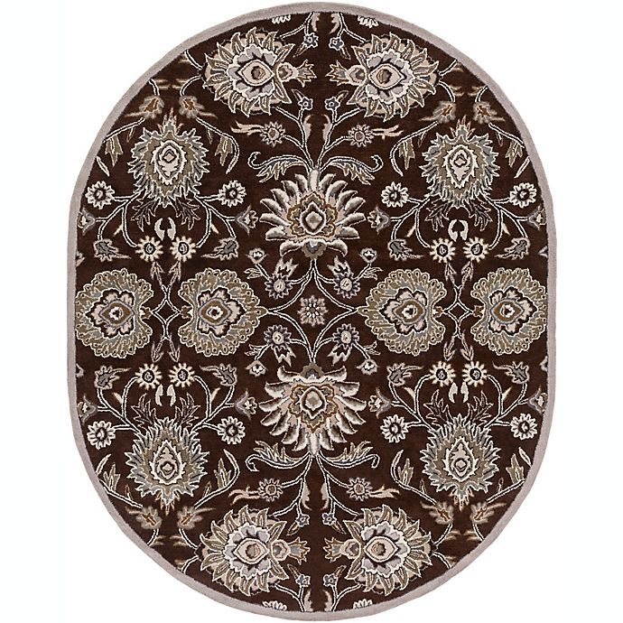 Alternate image 1 for Surya Caesar Classic Floral Oval Rug