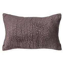 Wamsutta® Vintage Textured Jacquard Velvet Oblong Throw Pillow in Eggplant