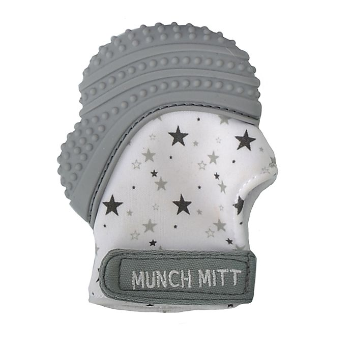 Alternate image 1 for Munch Baby Munch Mitt Teething Mitten in Grey
