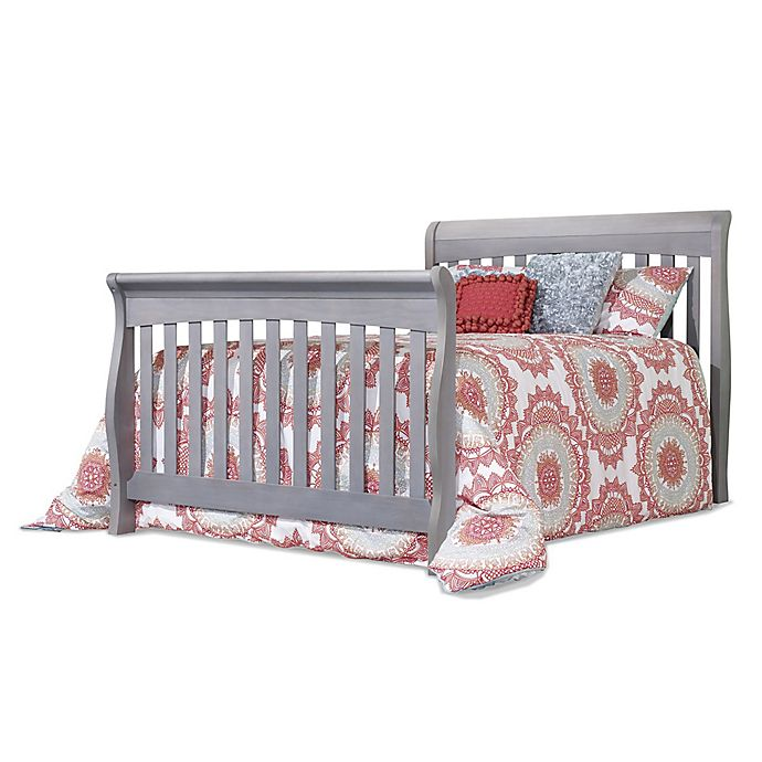 Alternate image 1 for Sorelle Princeton Elite Full Size Bed Rail in Weathered Grey