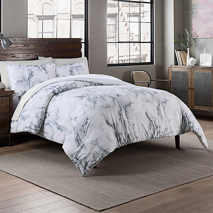 Alternate image 1 for Garment Washed Printed 3-Piece Reversible Full/Queen Comforter Set