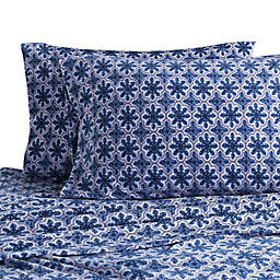 Berkshire Blanket Original Microfleece Snowflake Print Sheet Set