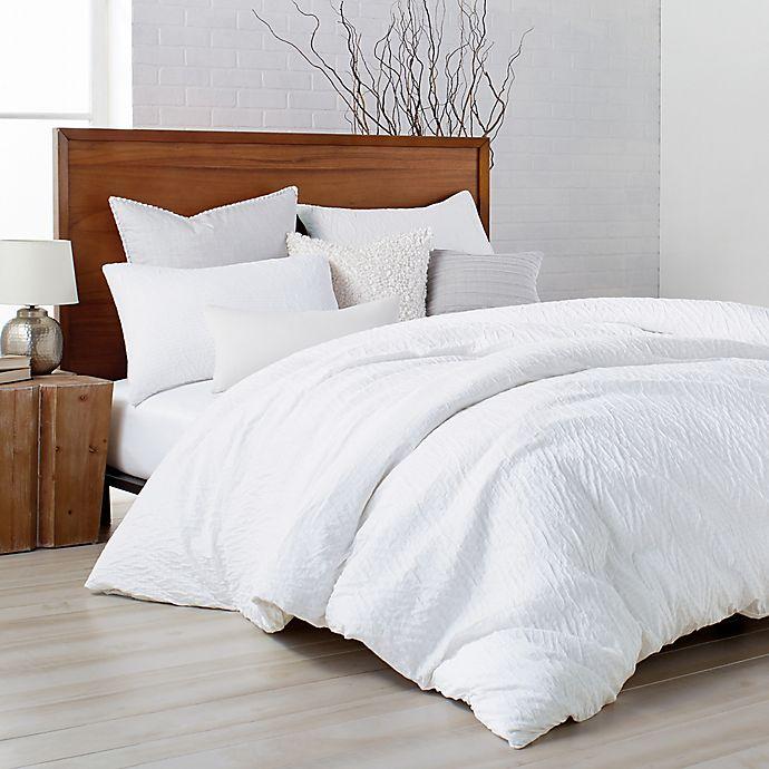 Alternate image 1 for DKNYpure® Crinkle Duvet Cover