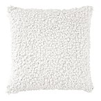 DKNYpure® Crinkle Looped Square Throw Pillow in White