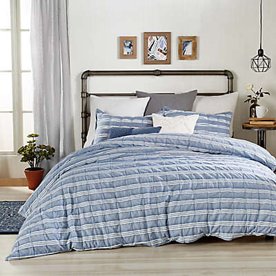 Peri Home Puckered Stripe Duvet Cover