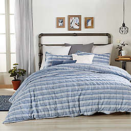 Peri Home Puckered Stripe Duvet Cover