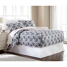 Micro Flannel® Cat Collage 3-Piece Fitted Quilt Set