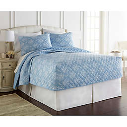Micro Flannel® Toile Wedgewood Quilt Set