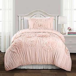 Lush Decor Serena 2-Piece Twin XL Comforter Set in Pink Blush