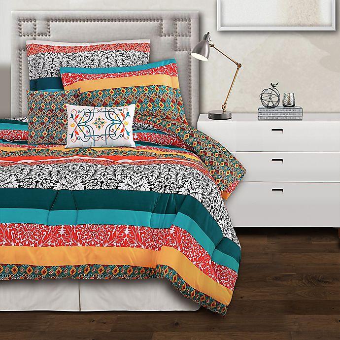 Alternate image 1 for Lush Decor Boho Stripe Reversible Comforter Set
