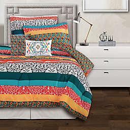 Lush Decor Boho Stripe Reversible Comforter Set