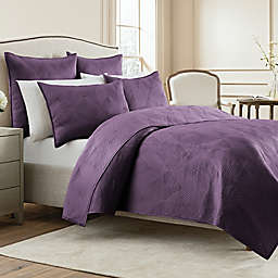 Wamsutta® Bliss Twin Coverlet in Purple