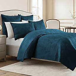 Wamsutta® Bliss Twin Coverlet in Dark Teal