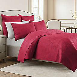 Wamsutta® Bliss Twin Coverlet in Ruby