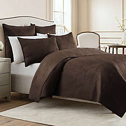 Wamsutta® Bliss Full/Queen Coverlet in Coffee