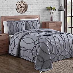 Sonora Ruffle 3-Piece Quilt Set