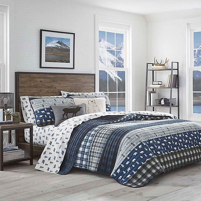Alternate image 1 for Eddie Bauer® Blue Creek Plaid Quilt Set