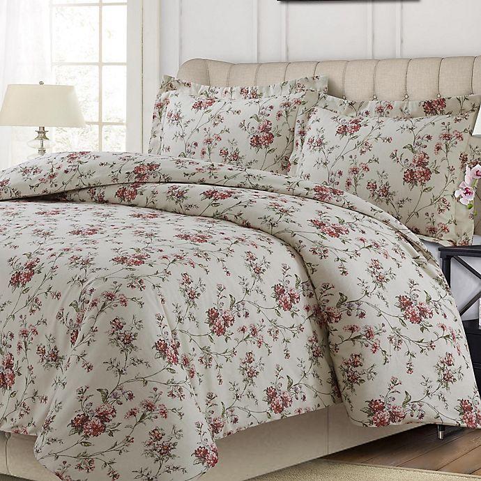Alternate image 1 for Tribeca Living Dollhouse Floral Multicolor 3 Piece Duvet Cover Set