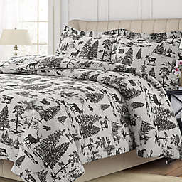 Tribeca Living Holiday Mountain Toile Duvet Cover Set