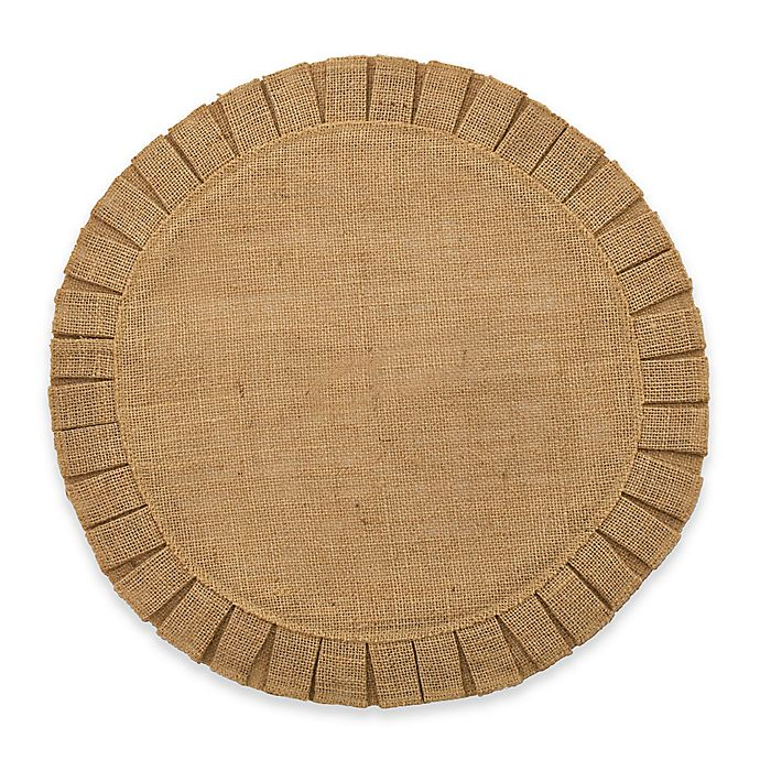 Alternate image 1 for Bee & Willow™ Home Ruffled Edge Jute Placemat in Natural