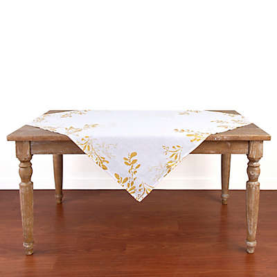 Olivia & Oliver Flora 50-Inch Square Table Topper Throw