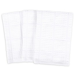 SALT All Purpose Waffle Weave Kitchen Towels in White (Set of 3)