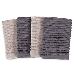 SALT™ Wave Bar Mop Dish Cloths (Set of 4)