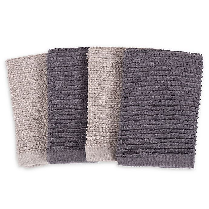 Alternate image 1 for SALT™ Wave Bar Mop Dish Cloths (Set of 4)