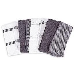 SALT™ Dish Cloths in Grey (Set of 4)