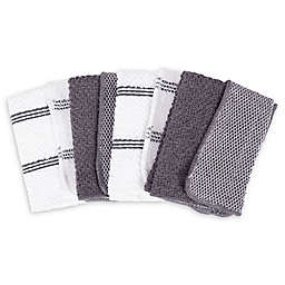 SALT™ Dish Cloths in Grey (Set of 4)