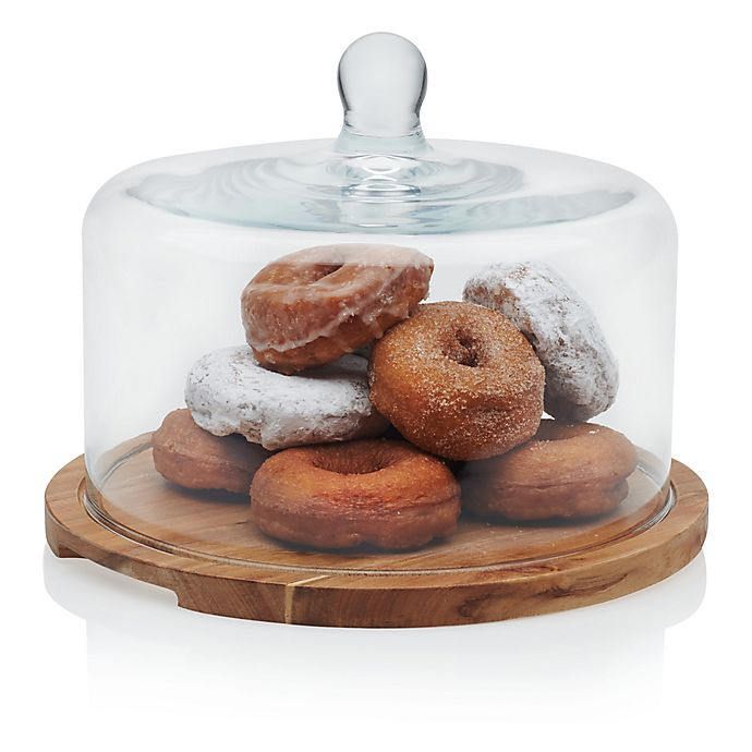 Alternate image 1 for Libbey® Glass Acacia Wood Serving Board with Dome