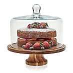 Libbey Glass 2-Piece Footed Server with Dome