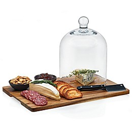 Libbey® Glass 4-Piece Acacia Wood Cheese Set with Dome