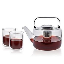 VIVA Scandinavia® Bjorn 3-Piece Glass Teapot and Teacup Set