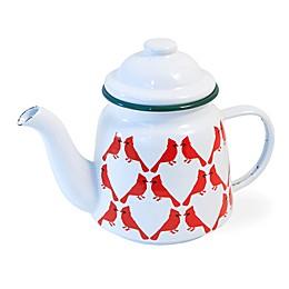 Boston International Cardinal Craze Teapot in Red/White