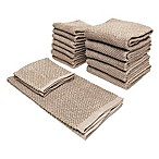 Bethany 14-Piece Kitchen Towel and Dish Cloth Set in Taupe